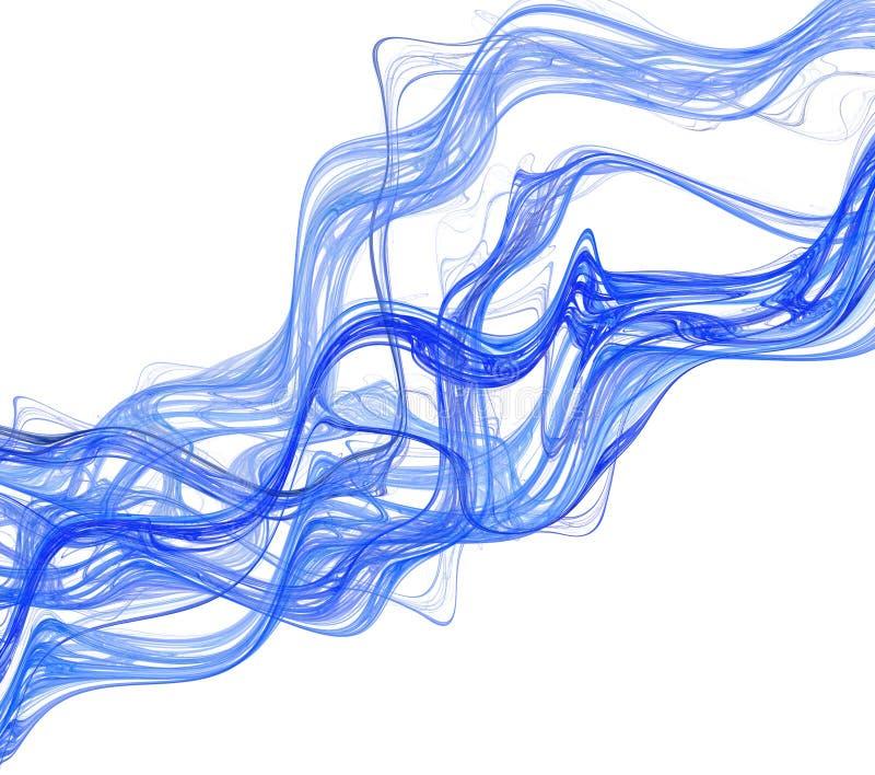 Smoke abstraction stock illustration