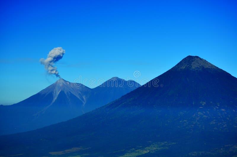 Smoke from an active Volcano in Nicaragua stock photos