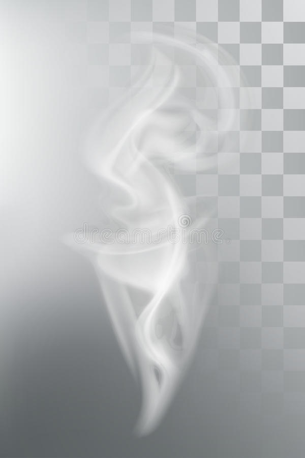 Smoke aroma steam. Vector illustration with transparency vector illustration