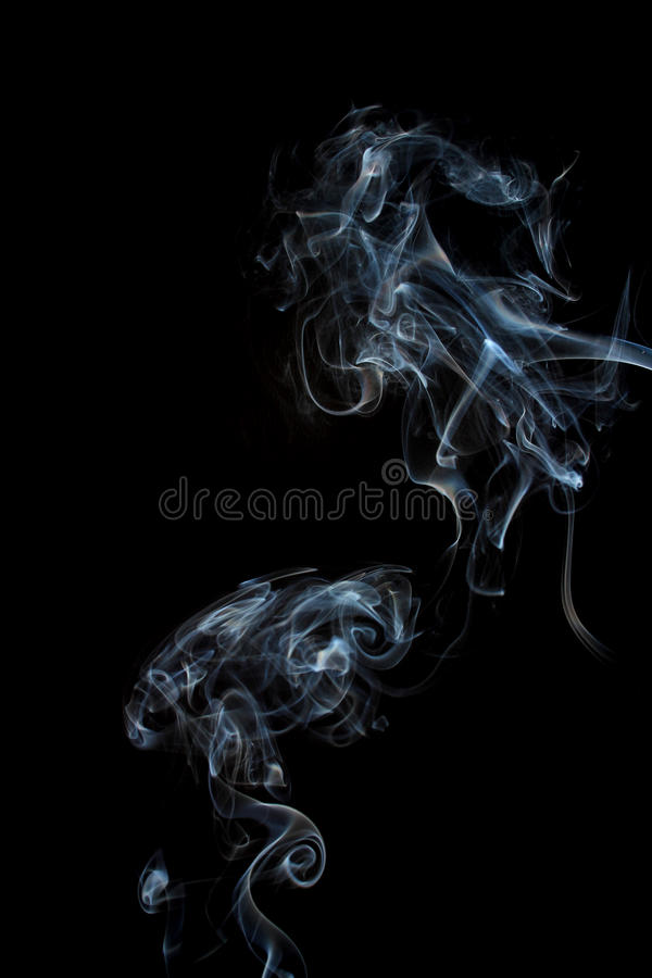Smoke On A Black Background Royalty Free Stock Photos