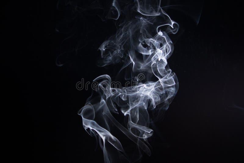 Smoke. On black background royalty free stock image