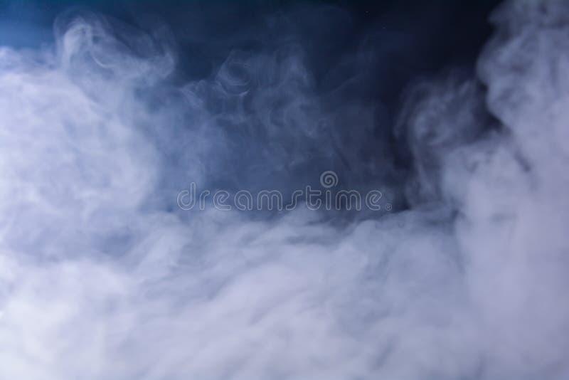 Smoke on a black background. Abstract image of smoke.  stock photography