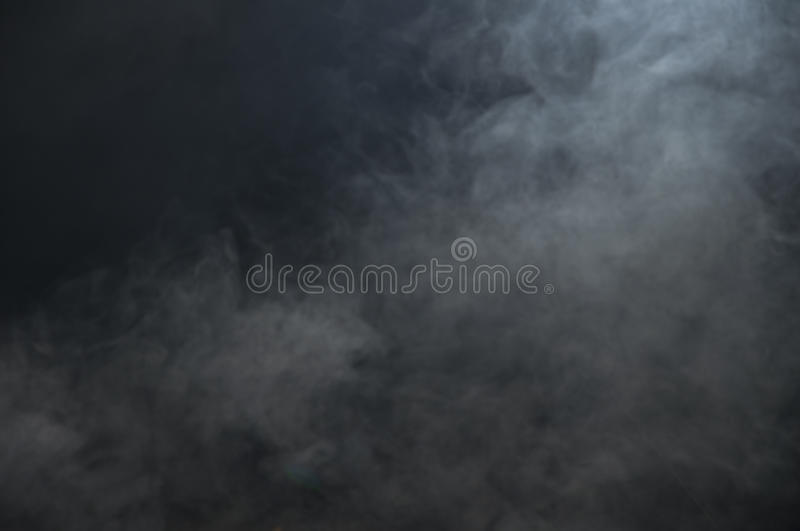 Smoke on a black background, cloud stock photography