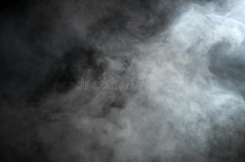 Smoke on a black background, cloud royalty free stock images