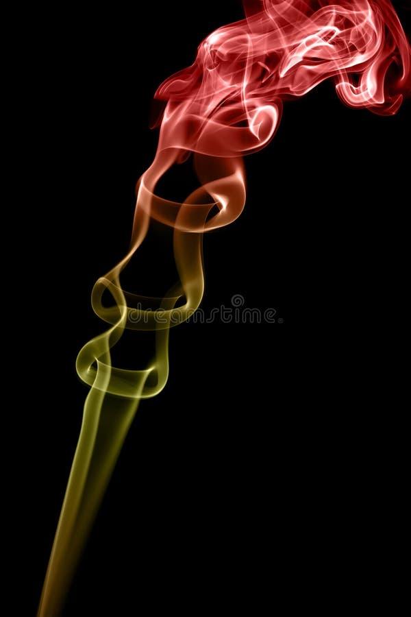 Smoke on black background stock images