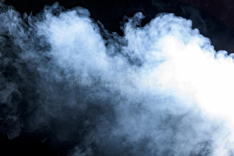 Smoke on a black background stock images