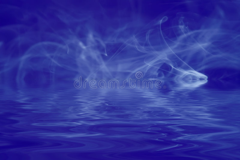 Download Smoke On Blue Royalty Free Stock Image - Image: 3835726