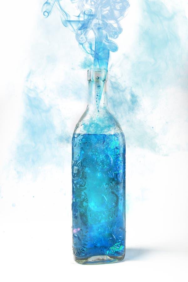 Smoke bottle royalty free stock photo