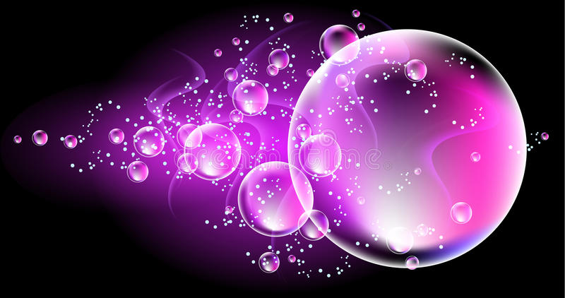 Download Smoke and bubbles stock vector. Image of round, motion - 23837184