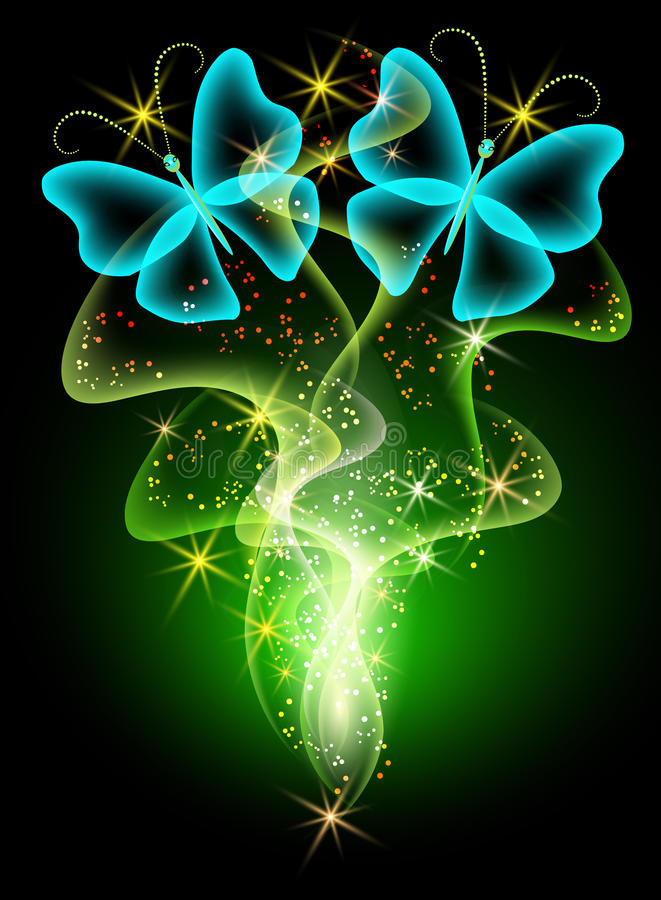Download Smoke and butterfly stock vector. Image of decorated - 21966801