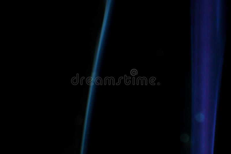 Smoke when the candle goes out. White smoke when the candle goes out royalty free stock images