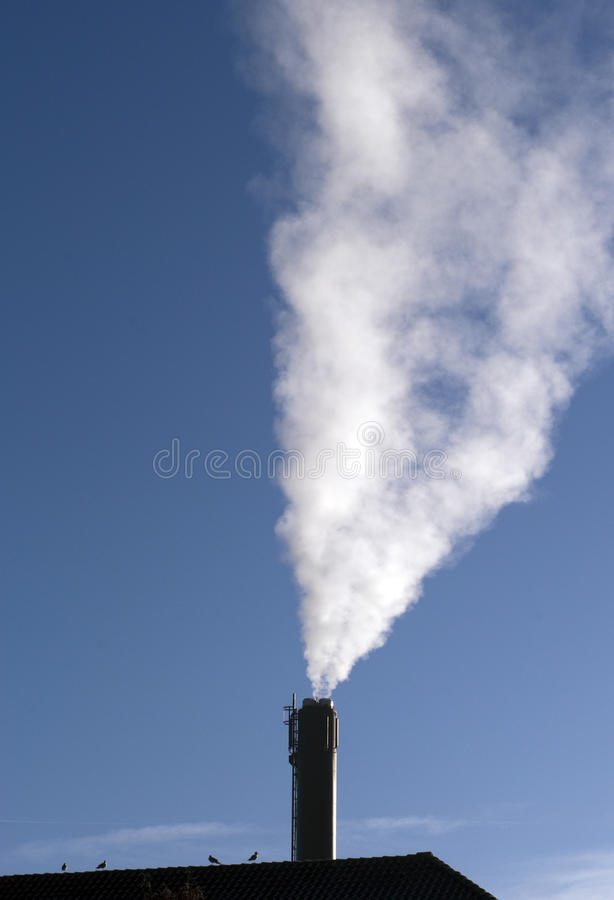 Download Smoke from a chimney stock image. Image of smog, building - 18149499