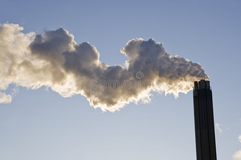 Download Smoke from a chimney stock image. Image of manufacture - 8590821