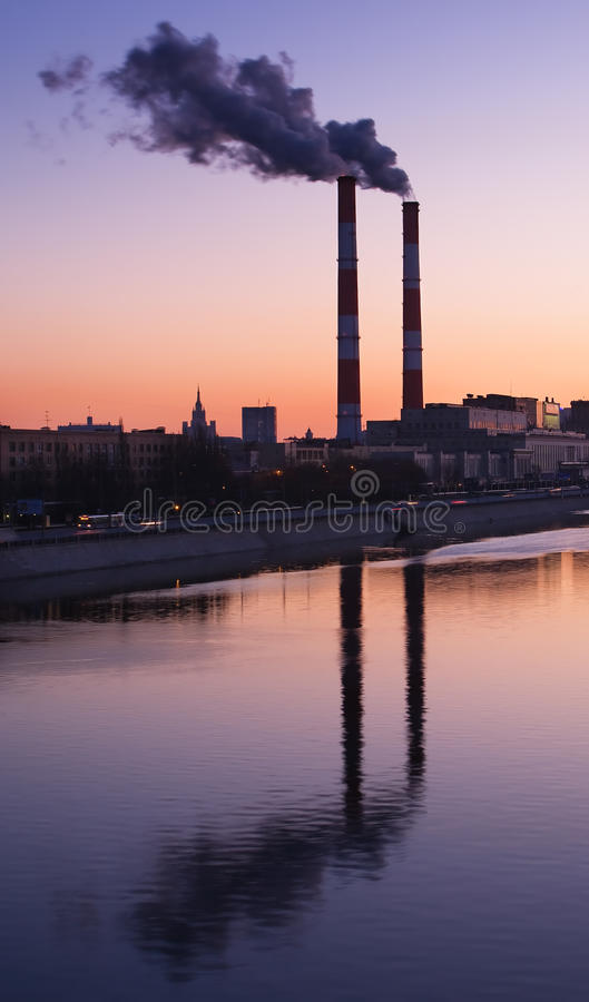 Download Smoke from chimneys stock image. Image of industrial - 11006207