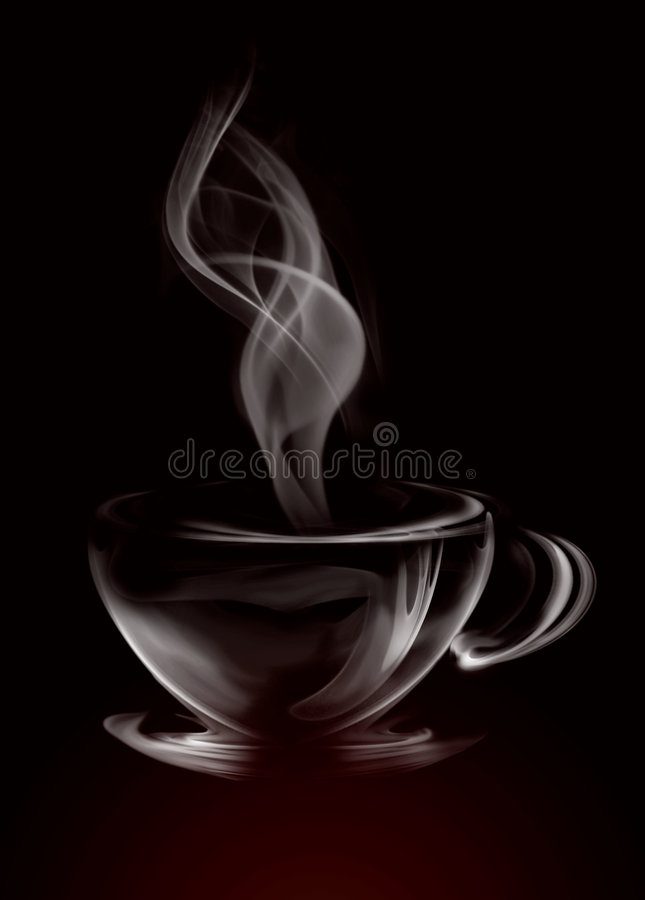 Smoke Cup of coffee royalty free stock images