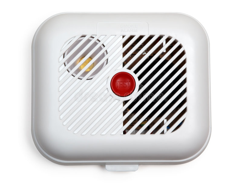 Smoke detector (with clipping path) stock images