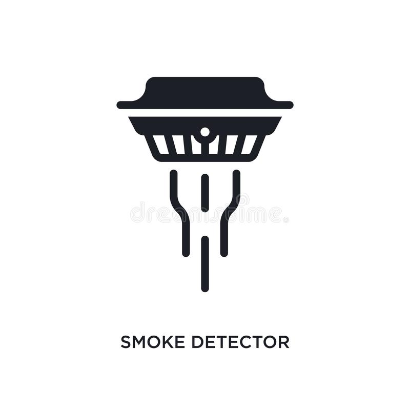 Smoke detector isolated icon. simple element illustration from electronic devices concept icons. smoke detector editable logo sign. Symbol design on white vector illustration