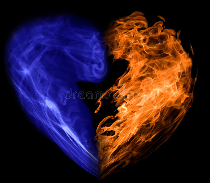 Download Smoke and fire heart stock image. Image of concepts, isolated - 6750823