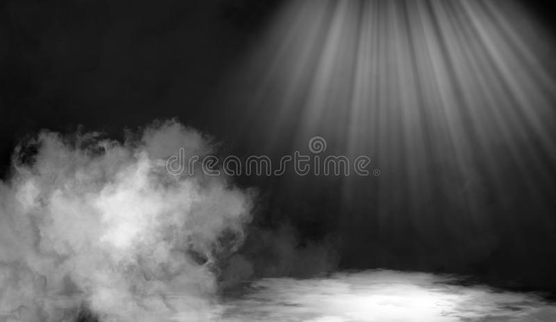 Smoke on the floor .Abstract smoke with light effect. Lighting spotlighting texture overlays. Smoke on the floor. Abstract fog with light effect. Lighting stock image
