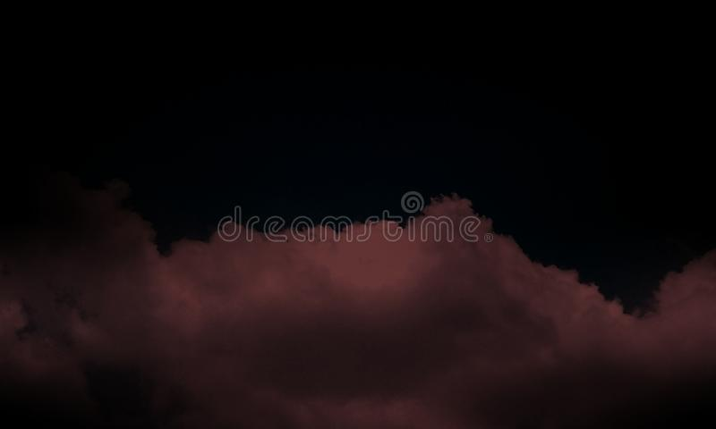 Smoke on the floor . Isolated black background.Abstract brown smoke mist fog on a black background.,wallpaper. stock illustration
