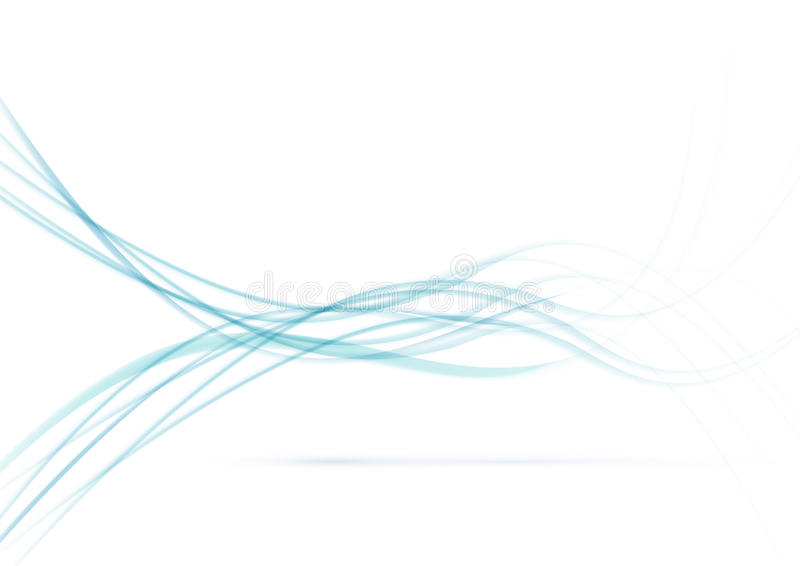 Smoke flow over white background. Clip-art royalty free illustration