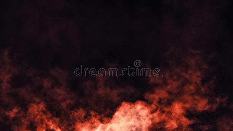 Abstract fire smoke mist fog on a black background. Texture. Design element. Smoke fog misty overltays effect on isolated black background royalty free stock photo