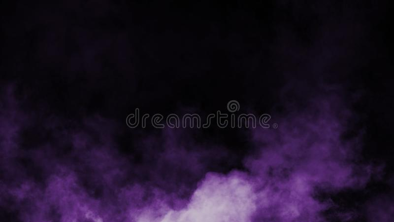 Abstract purple smoke mist fog on a black background. Texture. Design element. royalty free illustration