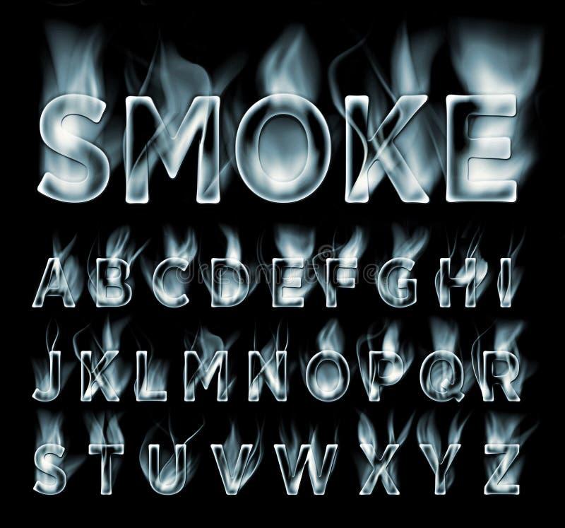 Smoke Alphabet Letters