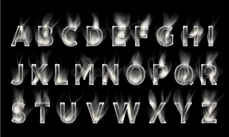 smoke font collection  stock illustration  illustration of