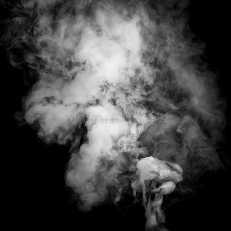 Smoke. Fragments on a black background