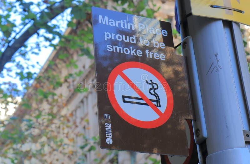 Smoke free sign Sydney Australia stock photos