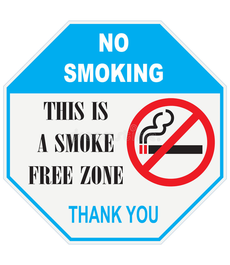 This is smoke free zone royalty free illustration
