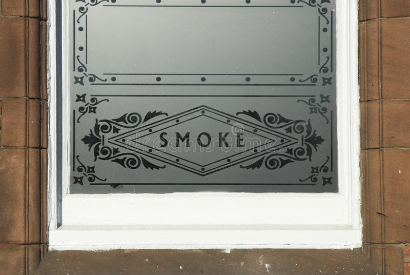 Download Smoke Glass WIndow stock image. Image of ornate, sign - 22974771
