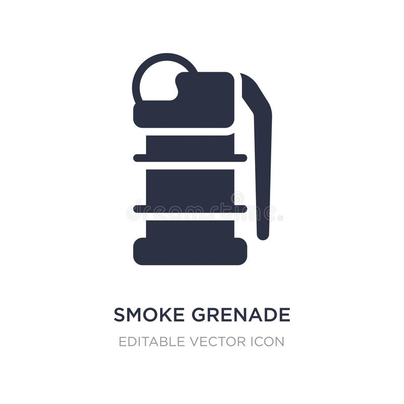 smoke grenade icon on white background. Simple element illustration from Security concept royalty free illustration