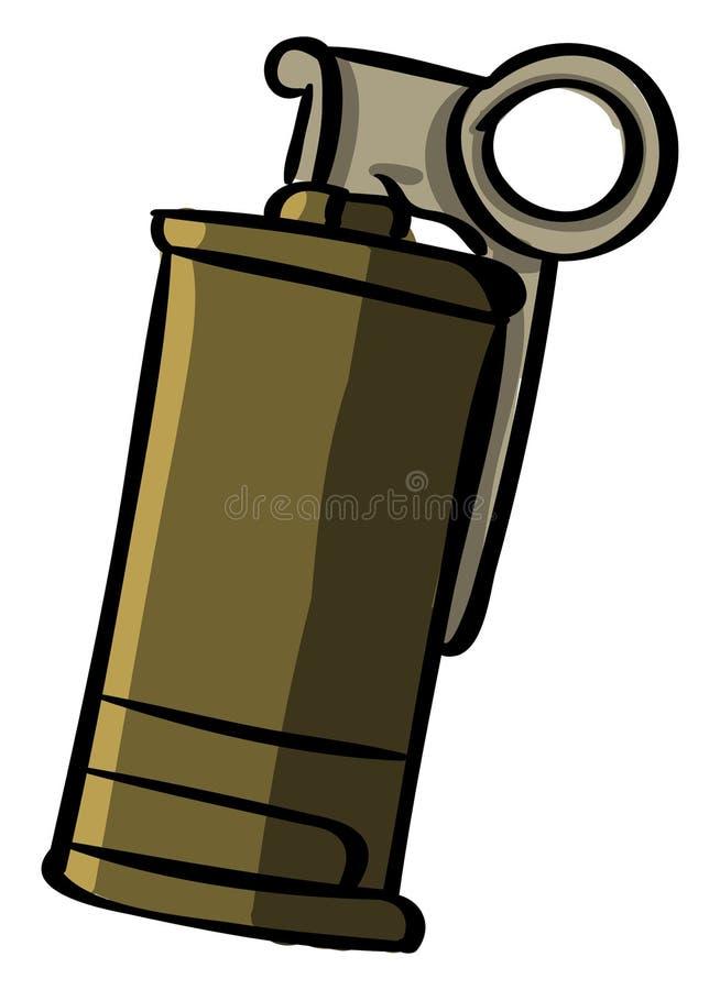 Smoke grenade, illustration, vector stock illustration