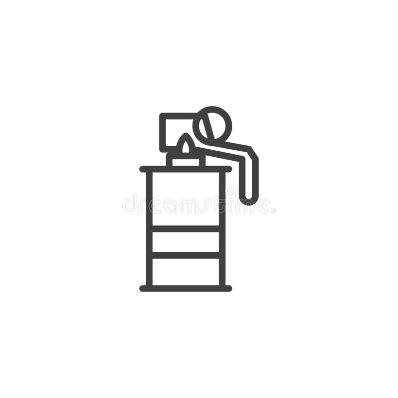 Smoke grenade line icon stock illustration