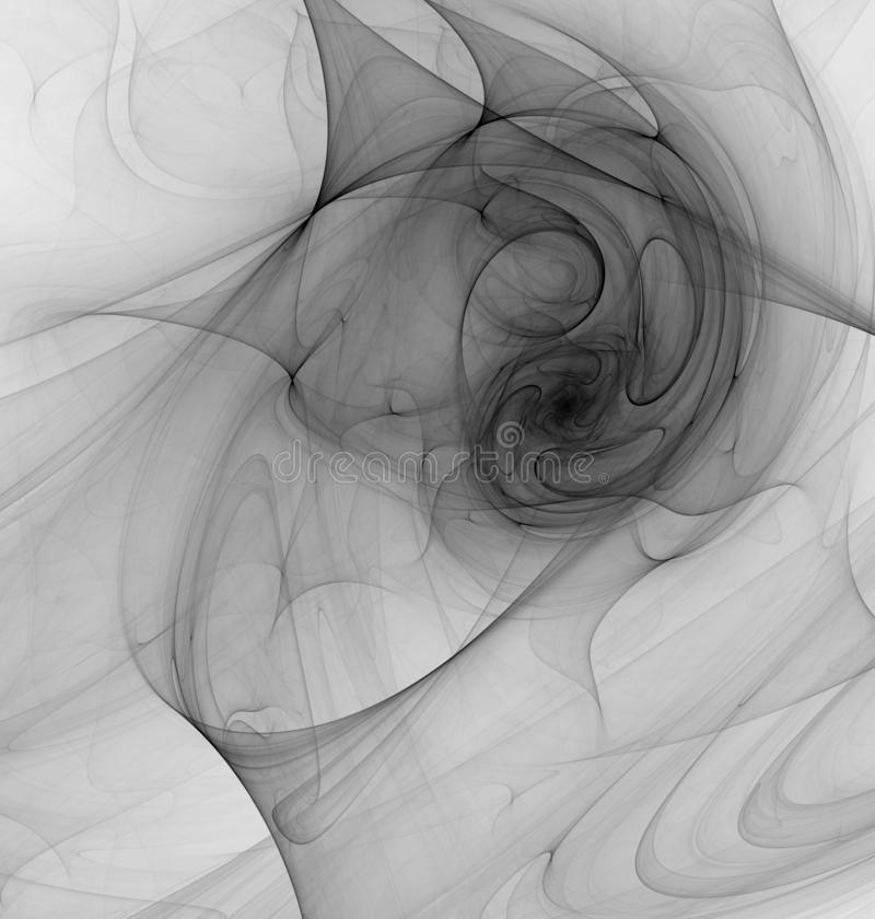 Smoke Swirl Tunnel Abstract. Smoke grey swirl tunnel abstract, vertical background royalty free illustration