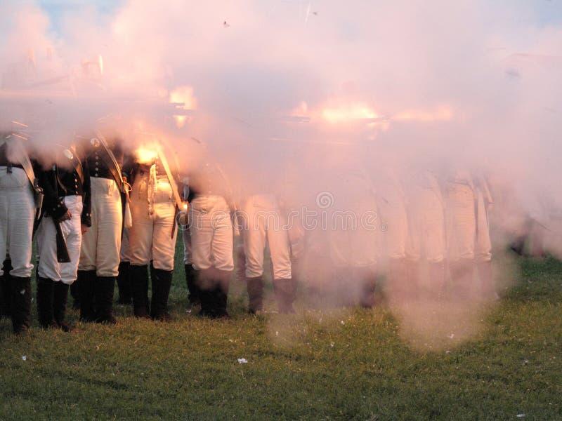 Download Smoke and Gunfire stock image. Image of maryland, flintlocks - 10982089