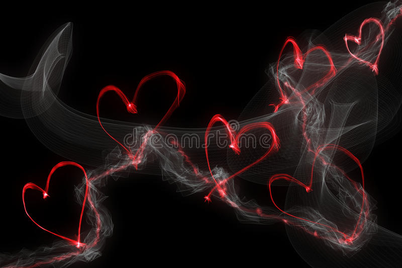 Smoke heart stock images