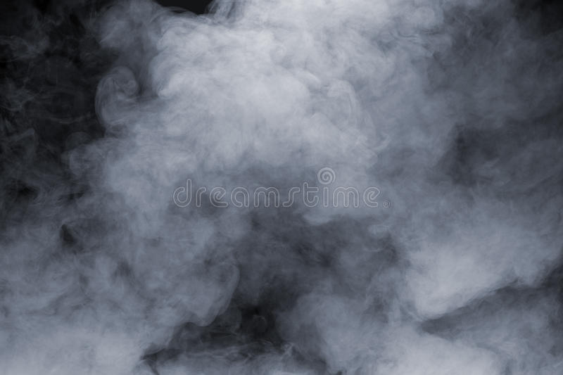 Smoke. Isolated on black background