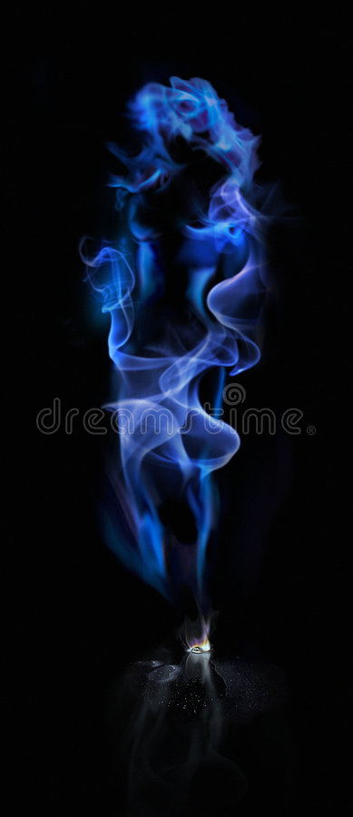 Smoke_Lady. An art image created with Adobe Photoshop