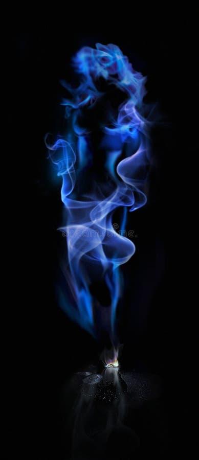 Smoke_Lady stock image