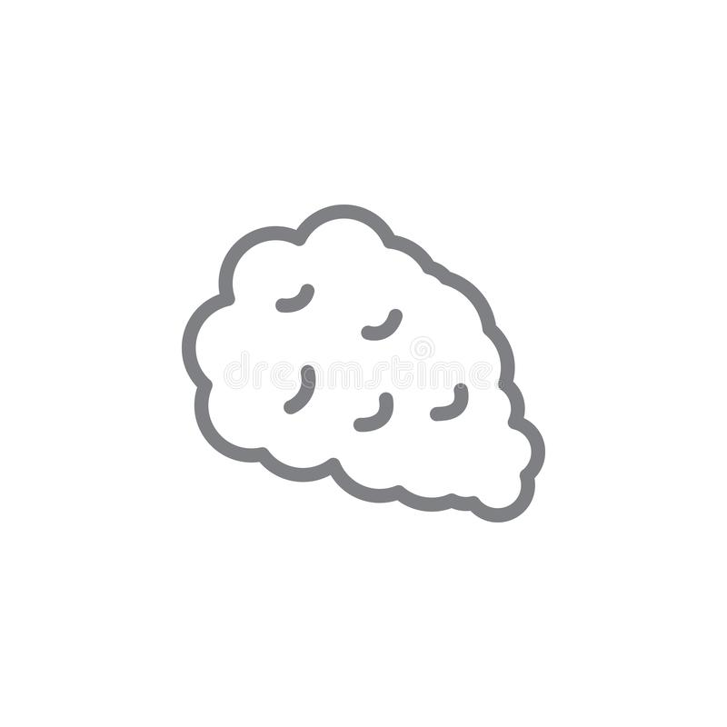 Smoke outline icon. Elements of smoking activities illustration icon. Signs and symbols can be used for web, logo, mobile app, UI stock illustration