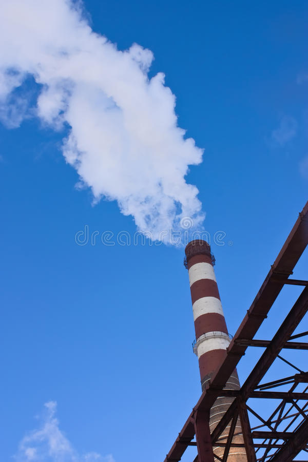 Smoke From The Pipe Royalty Free Stock Photography