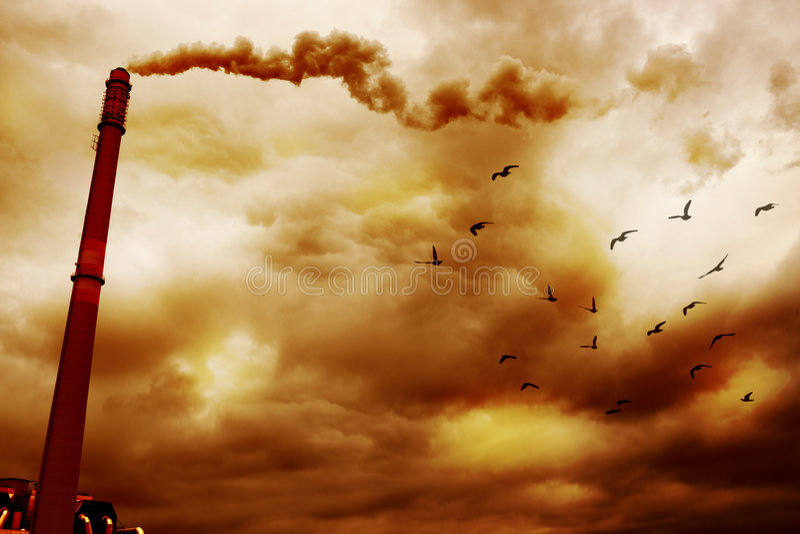 Smoke pollution royalty free stock image