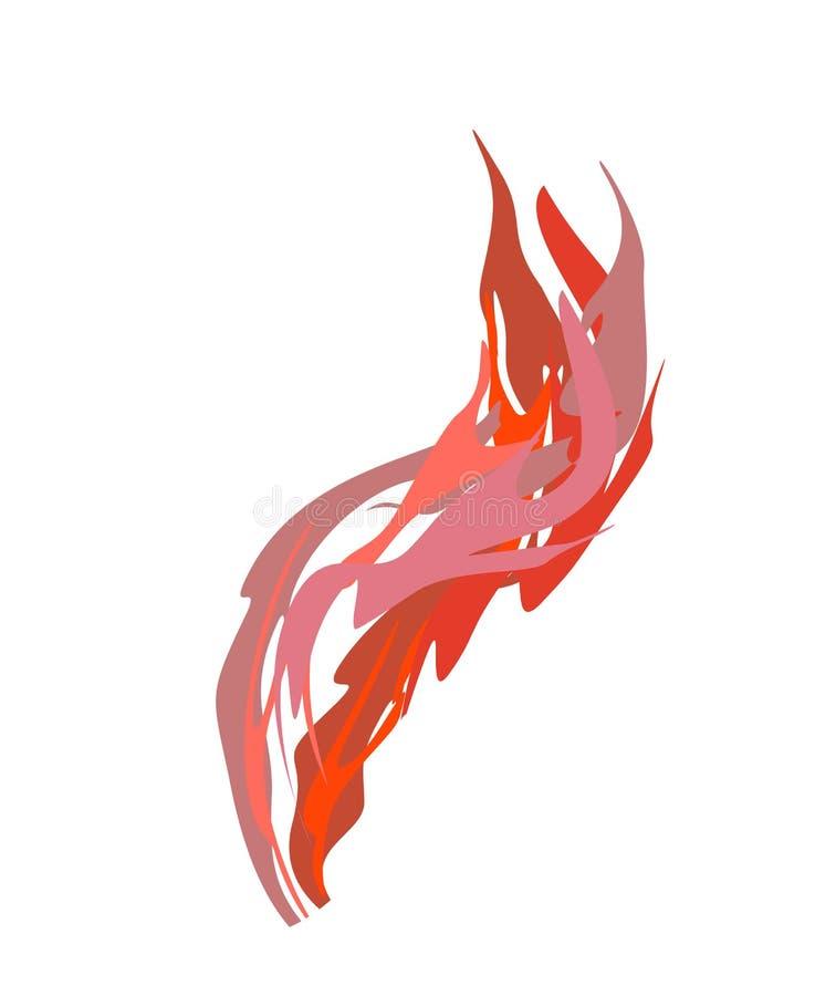 Smoke red Acidic isolated. Chemical evaporation. Vector illustration royalty free illustration