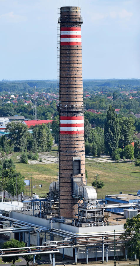 Free Smoke Stack Of The Power Station Stock Photography - 58503292