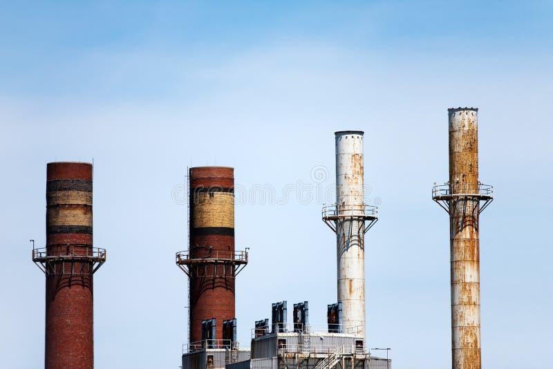 Smoke Stacks royalty free stock image