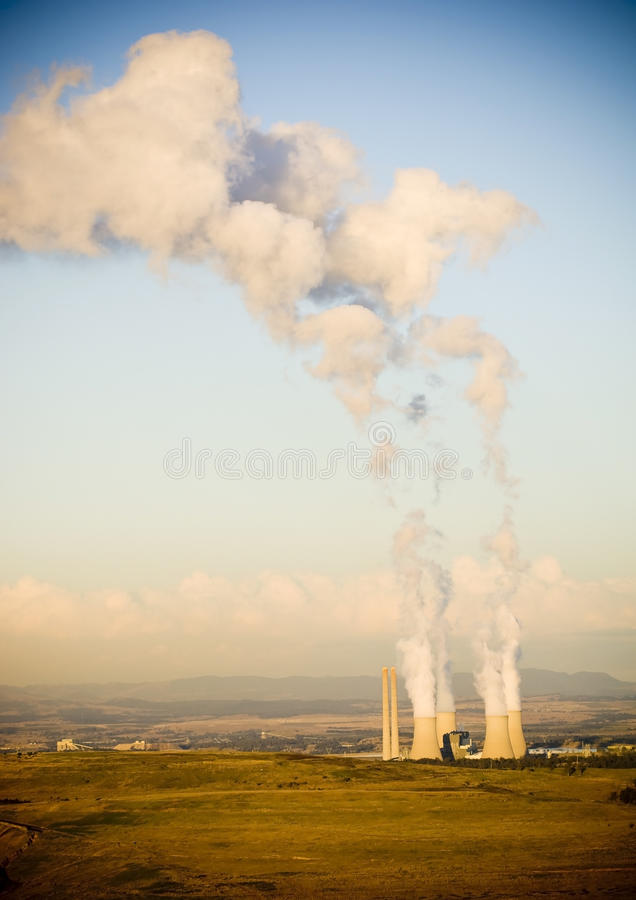 Download Smoke Stacks stock photo. Image of electric, electricity - 15246996