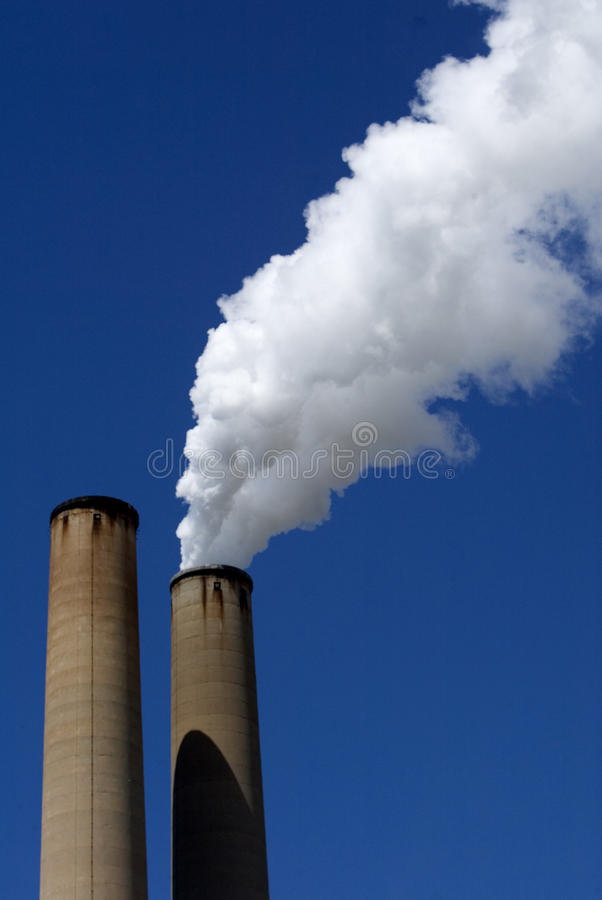 Download Smoke stacks stock image. Image of power, blue, pollution - 23037443